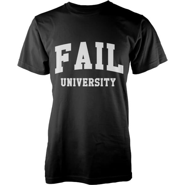 T-Shirt Homme Fail University - Noir