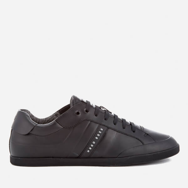 BOSS Green Men's Shuttle Leather Low Top Trainers - Black