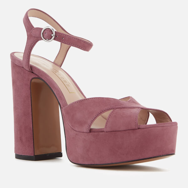 Marc Jacobs Women's Lust Leather Platform Heeled Sandals - Dusty - UK 5 TAyGOE