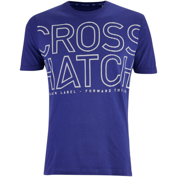 T-Shirt Homme Quahog Imprimé Crosshatch -Bleu