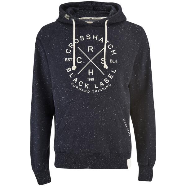 Crosshatch Men's Fizzy Fleck Fabric Hoody - Nightsky Navy
