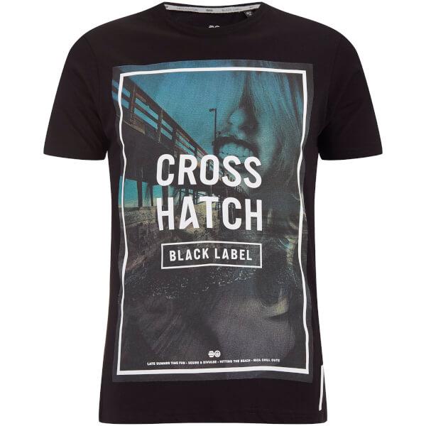 Crosshatch Men's Broadwalk Graphic T-Shirt - Black