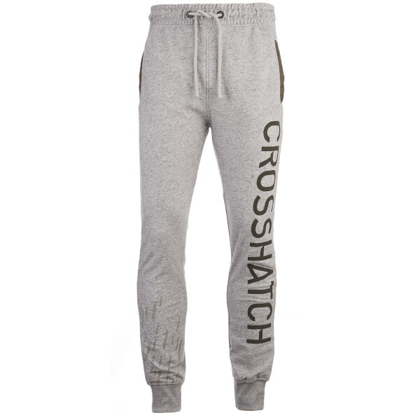 Crosshatch Men's Grus Sweatpants - Light Grey Marl