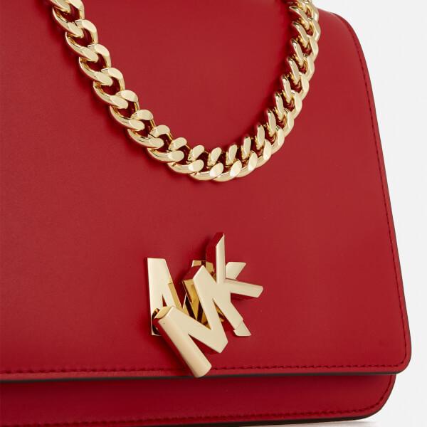 daa8770b92c85 MICHAEL MICHAEL KORS Women s Mott Large Chain Swag Shoulder Bag - Bright  Red  Image 4