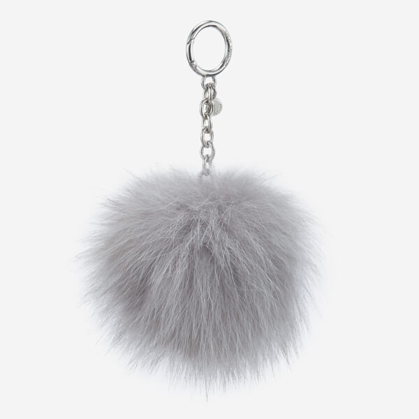 MICHAEL MICHAEL KORS Women's Large Fur Pom Pom - Silver