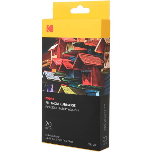 20 Papiers Photo + Cartouche pour Imprimante Kodak Mini