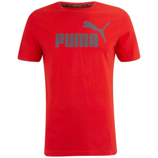 Puma Men's Essential Logo T-Shirt - Cherry
