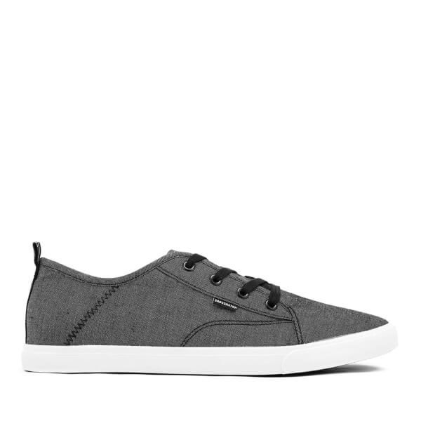 Crosshatch Men's Evacuate Trainers - Black Chambray