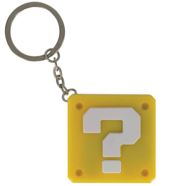 Porte-Clefs Lumineux Super Mario Point D'interrogation Nintendo -Jaune