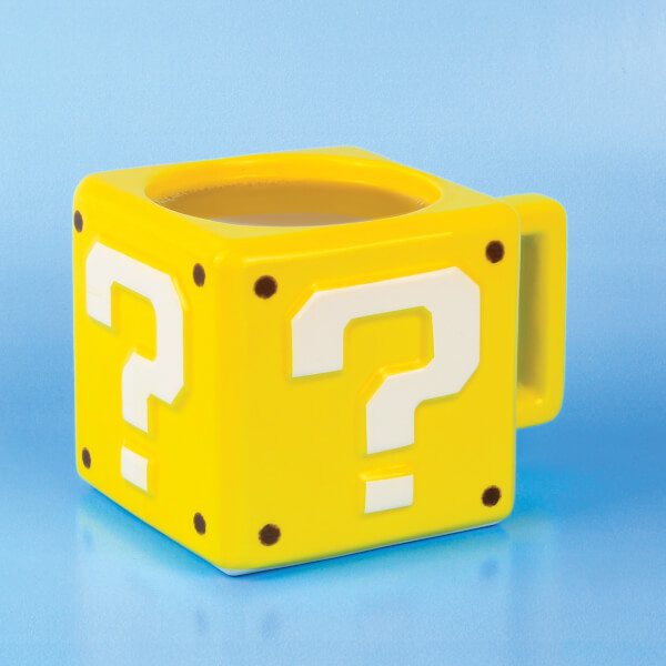 Nintendo Super Mario Question Block Mug - Yellow