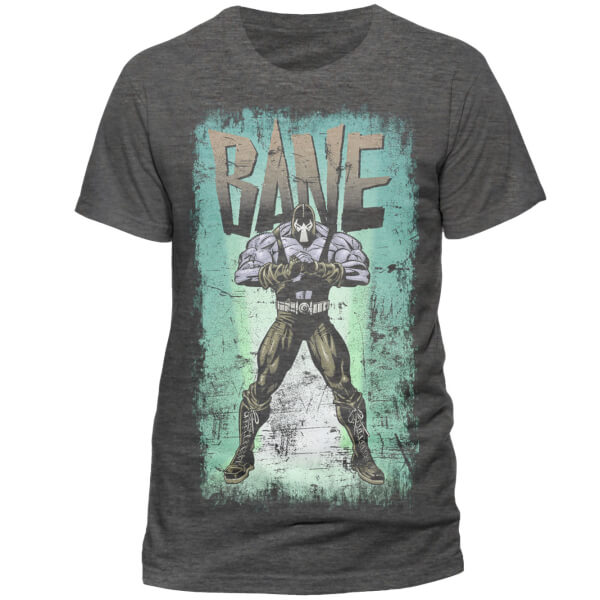DC Comics Men's Batman Retro Bane T-Shirt - Grey