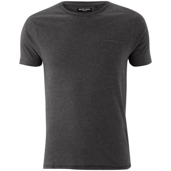T-Shirt Homme Brave Soul Arkham Pocket - Gris Charbon Chiné