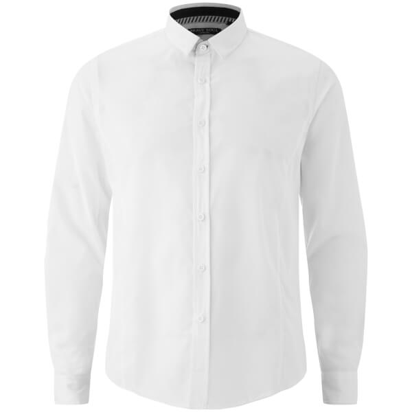 Brave Soul Men's Tudor Long Sleeve Shirt - White