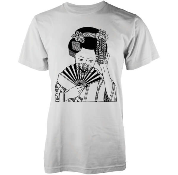 Abandon Ship Men's Skull Geisha T-Shirt - White