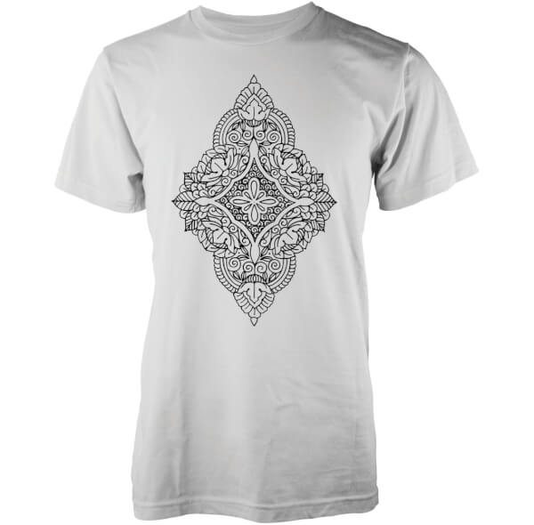 Abandon Ship Men's Floral Diamond T-Shirt - White