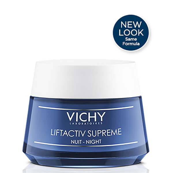 Vichy LiftActiv Night Supreme Anti-Wrinkle and Firming Night Cream, 1.69 Fl. Oz.