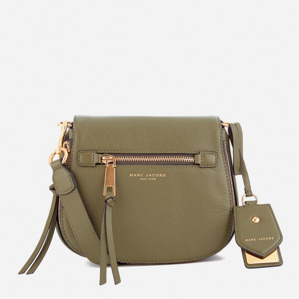 a2a7d486ecb2 Marc Jacobs Women s Recruit Small Nomad Saddle Bag - Army Green  Image 1