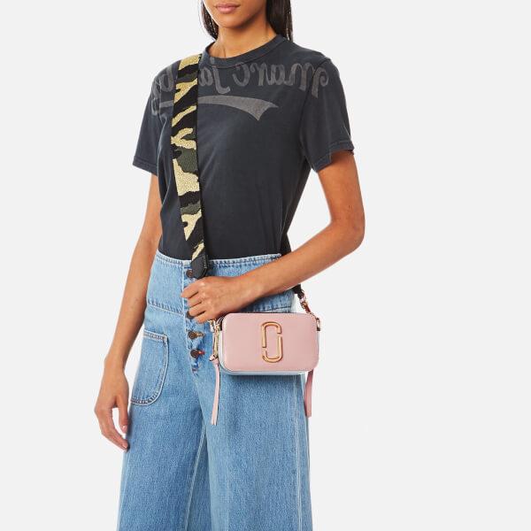 Marc Jacobs Women s Snapshot Cross Body Bag - Pale Pink Multi Womens ... 54b348b8c09d4