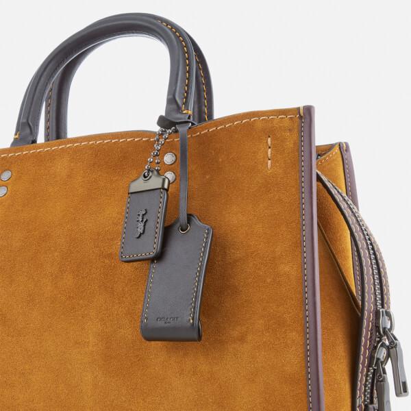 7b832eddb9a8 Coach 1941 Women s Colourblock Suede Rogue Bag - Oak Clothing ...