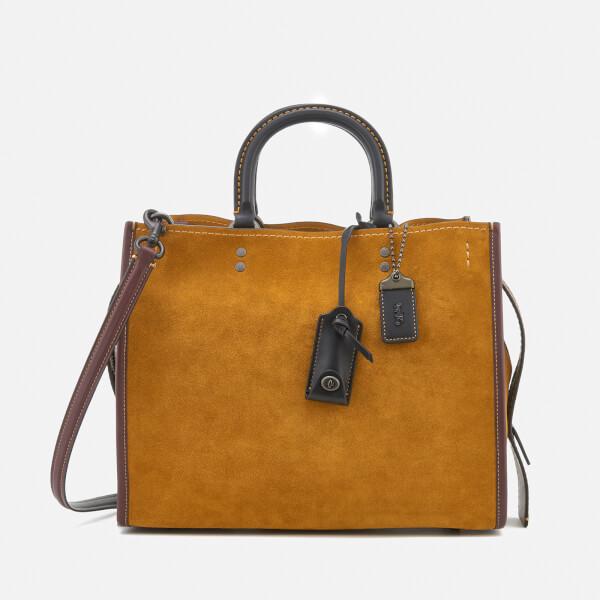 f94830226949 Coach 1941 Women s Colourblock Suede Rogue Bag - Oak  Image 1