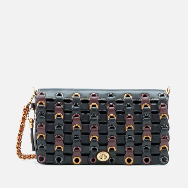Coach 1941 Women's Linked Leather Dinky Bag - Black Multi