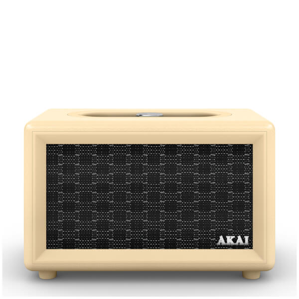 Akai Retro Bluetooth Speaker (2 x 20W) - Cream