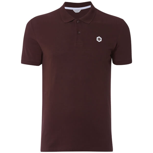 Jack & Jones Men's Core Booster Logo Polo Shirt - Burgundy