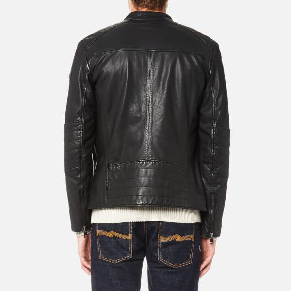 BOSS Orange Men's Jeeper Leather Biker Jacket