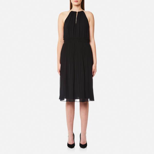 MICHAEL MICHAEL KORS Women's Hayden Chain Neck Dress - Black: Image 1