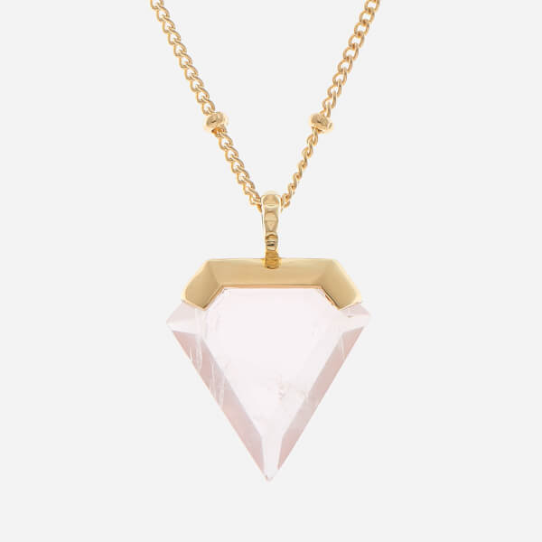 pink beautiful quartz yaf pendant boutique jewelry sparkle