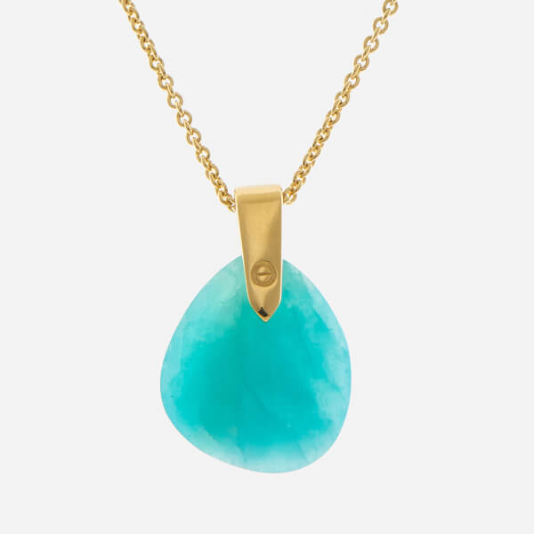 Missoma Women's Amazonite Karma Pendant and Gold Plain Chain - Gold/Turquoise