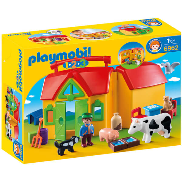Ferme transportable avec animaux (6962) -Playmobil 1.2.3