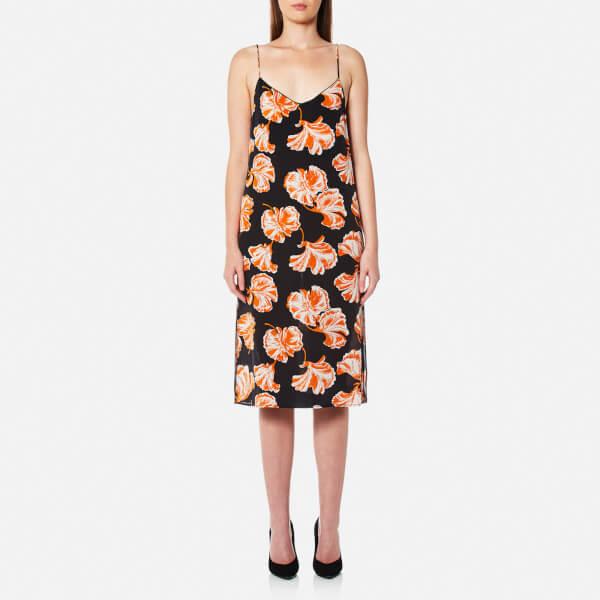 Ganni Women's Geroux Silk Slip Dress - Black