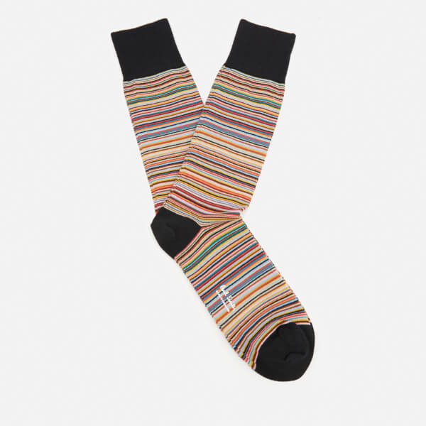 Paul Smith Men's Multi Stripe Socks - Classic Brown