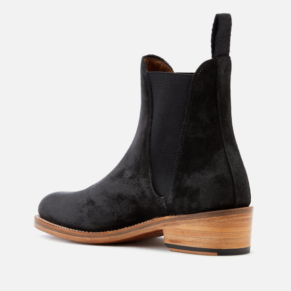 Grenson Women s Nora Burnished Suede Chelsea Boots - Black  Image 4 e11dcec61f