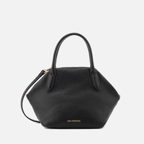 Lulu Guinness Women's Small Peekaboo Lip Valentina Tote Bag - Black