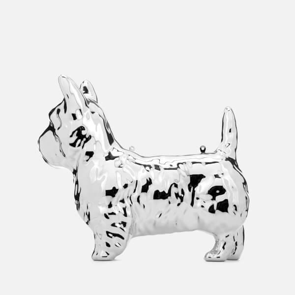 Womens Daphne Dog Clutch Silver (Silver) Lulu Guinness 91ZmY1yHv