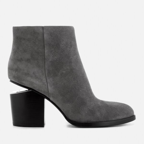 Alexander Wang Women's Gabi Suede Heeled Ankle Boots - Mink - UK 6 Qtdxq