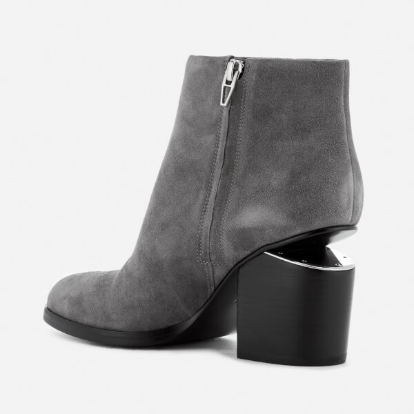 Alexander Wang Women's Gabi Suede Heeled Ankle Boots - Mink - UK 6
