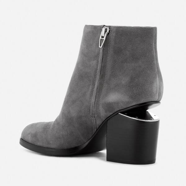 Alexander Wang Women's Gabi Suede Heeled Ankle Boots - Mink - UK 6 4DPw8hkJe