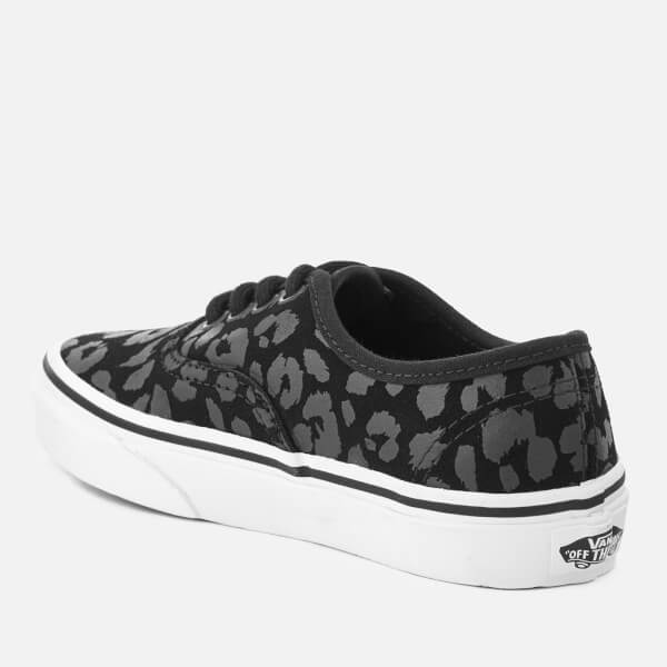 Vans Kids  Authentic Leopard Suede Trainers - Black  Image 4 b4e1bef23