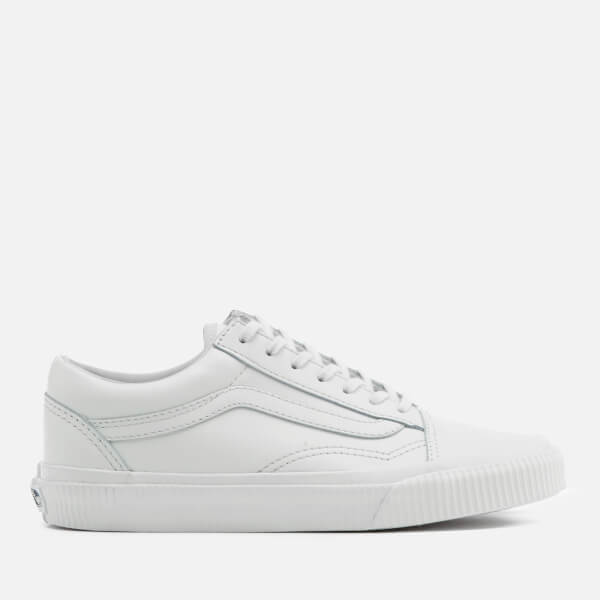 Vans Women's Old Skool Embossed Side Wall Trainers - Blanc de Blanc