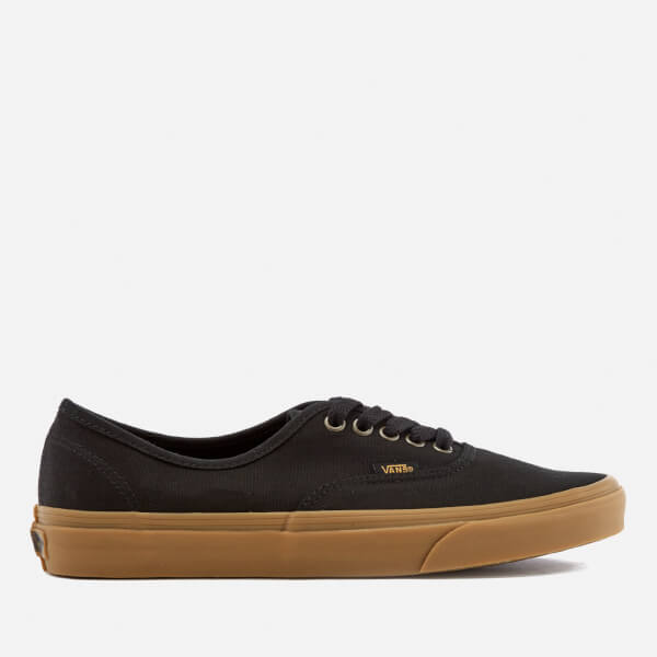 Vans Men's Authentic Light Gum Trainers - Black