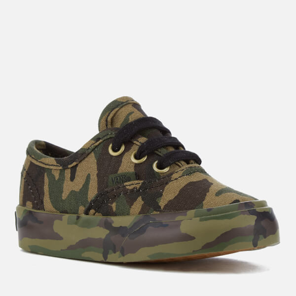 Vans 2 Tone Camo Authentic Kids Canvas Trainers Black Camouflage - 30 EU iNOswmIy
