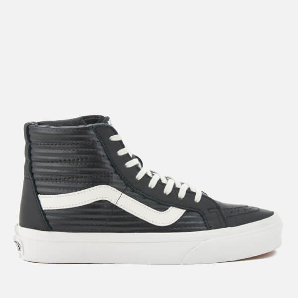 fdbd97277f0 Vans Women s Sk8-Hi Reissue Moto Leather Hi-Top Trainers - Black Blanc