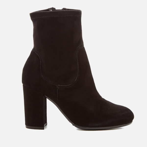 Dune Women S Oakes Suede Heeled Sock Boots Black Free