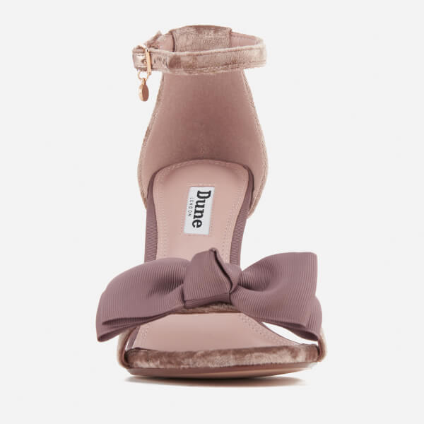 5e114570c36 Dune Women s Moella Velvet Bow Barely There Heeled Sandals - Mink  Image 3