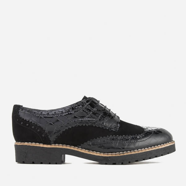 Dune Women's Faune Leather Brogues - Black