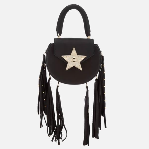 SALAR Women's Mimi Fringe Stud Bag - Black