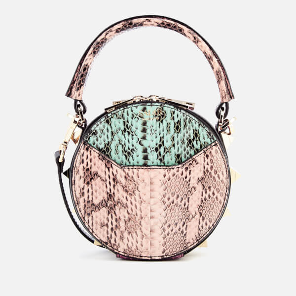 SALAR Women's Lea Snake Cross Body Bag - Pink/Mint